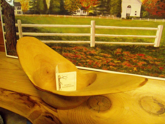Wood Turned Bowl at The Rowell Sugarhouse in Walden, VT